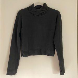 roll neck crop sweater